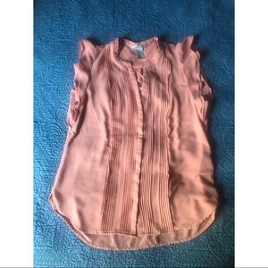 Pink Sleeveless Ruffle H&M Top